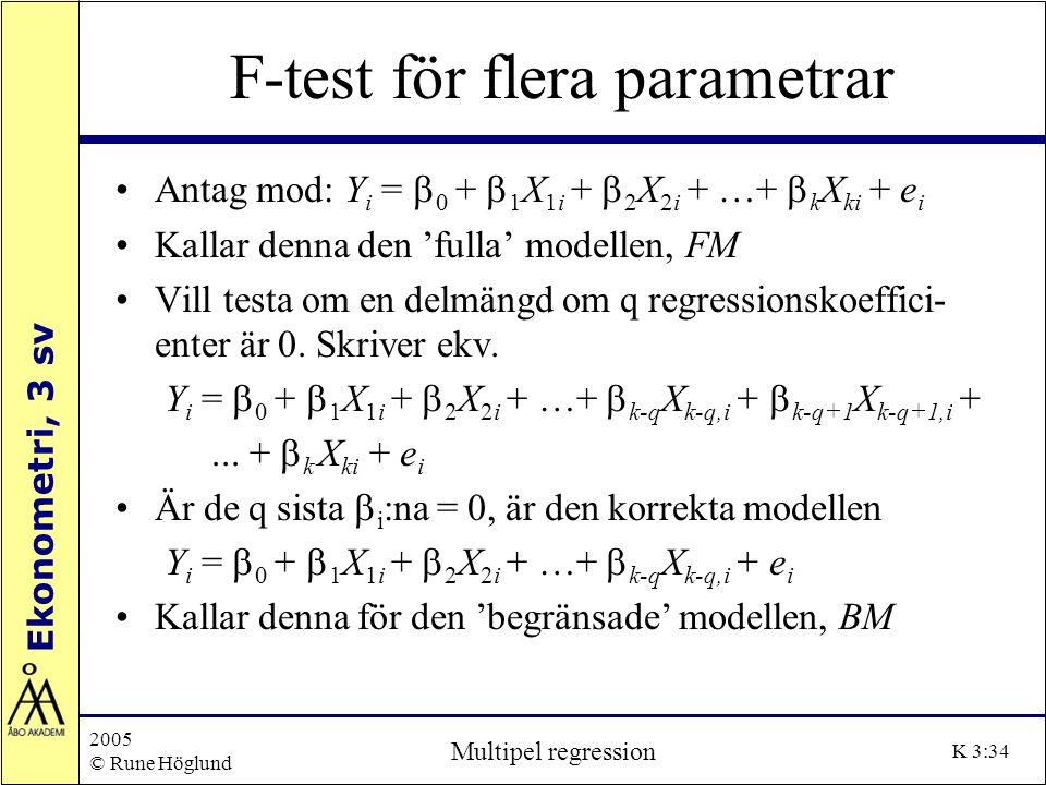 F-test för flera parametrar