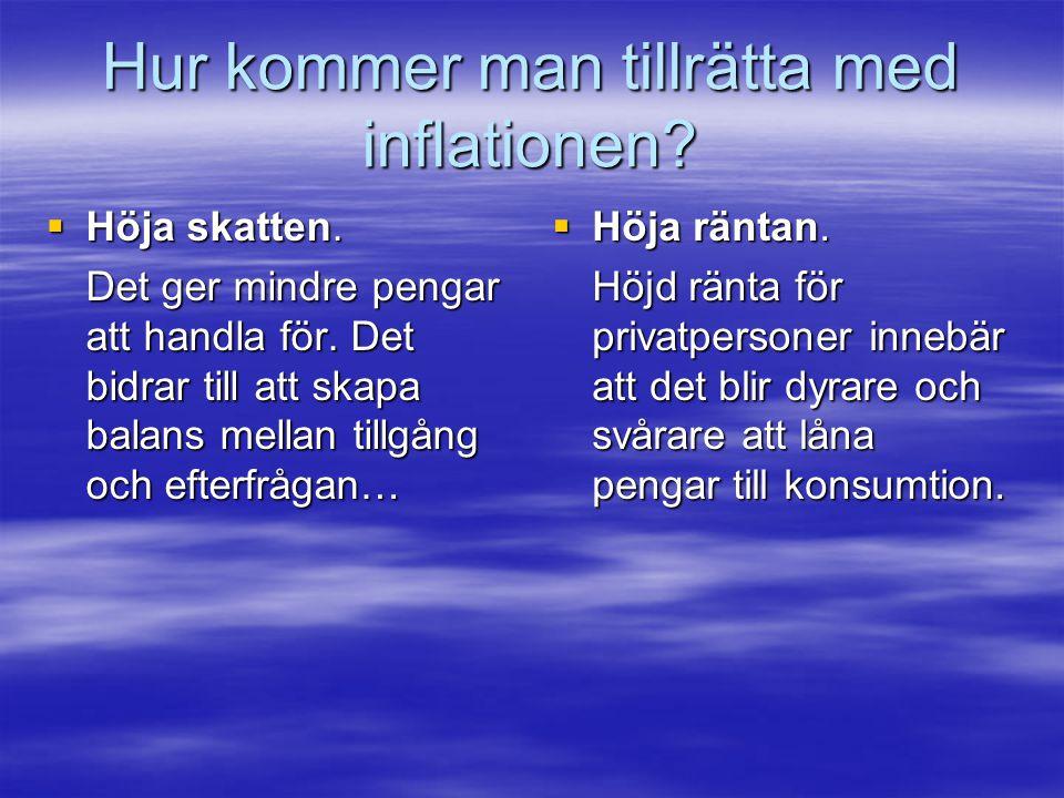 Hur kommer man tillrätta med inflationen