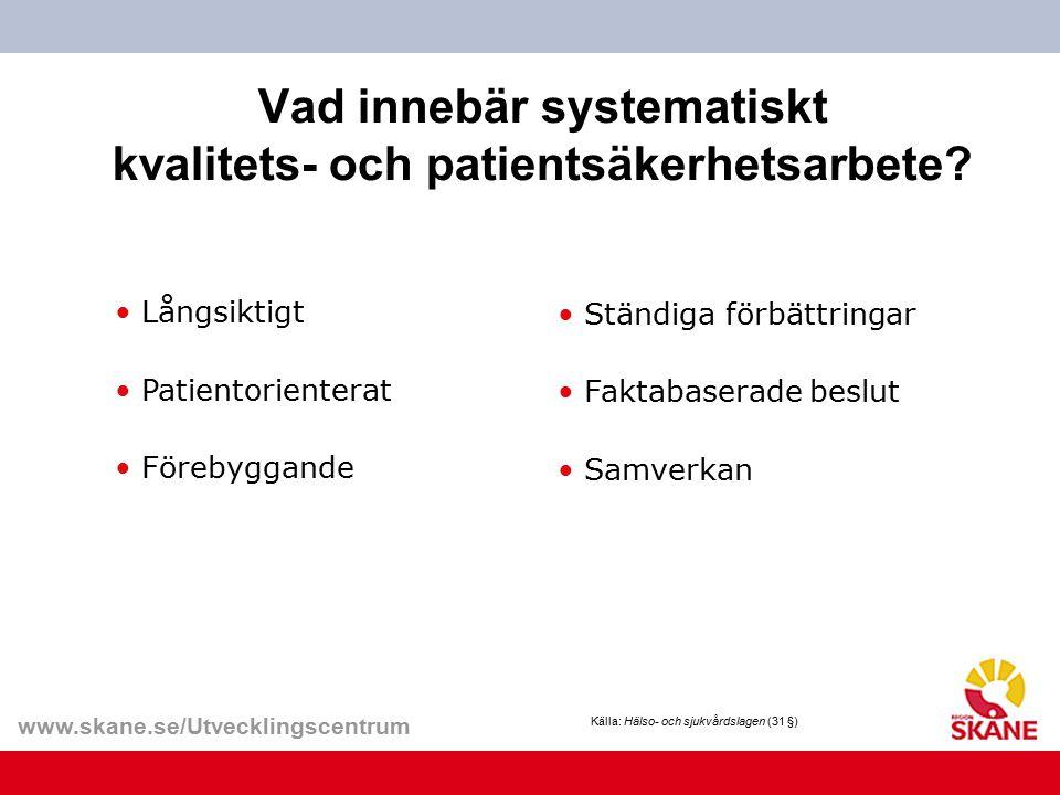 Vad innebär systematiskt kvalitets- och patientsäkerhetsarbete