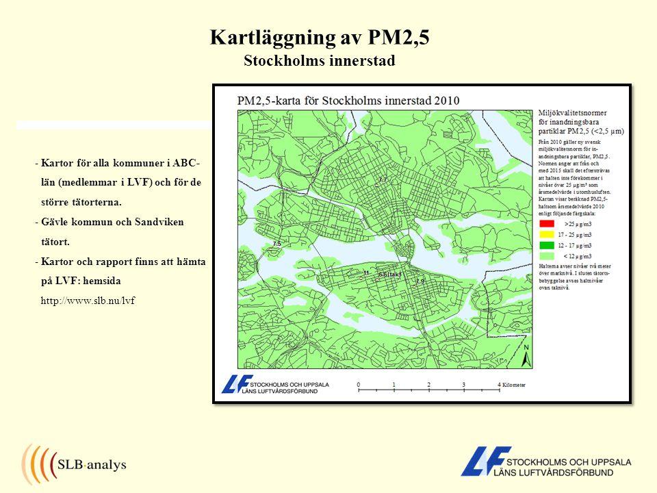 Kartläggning av PM2,5 Stockholms innerstad