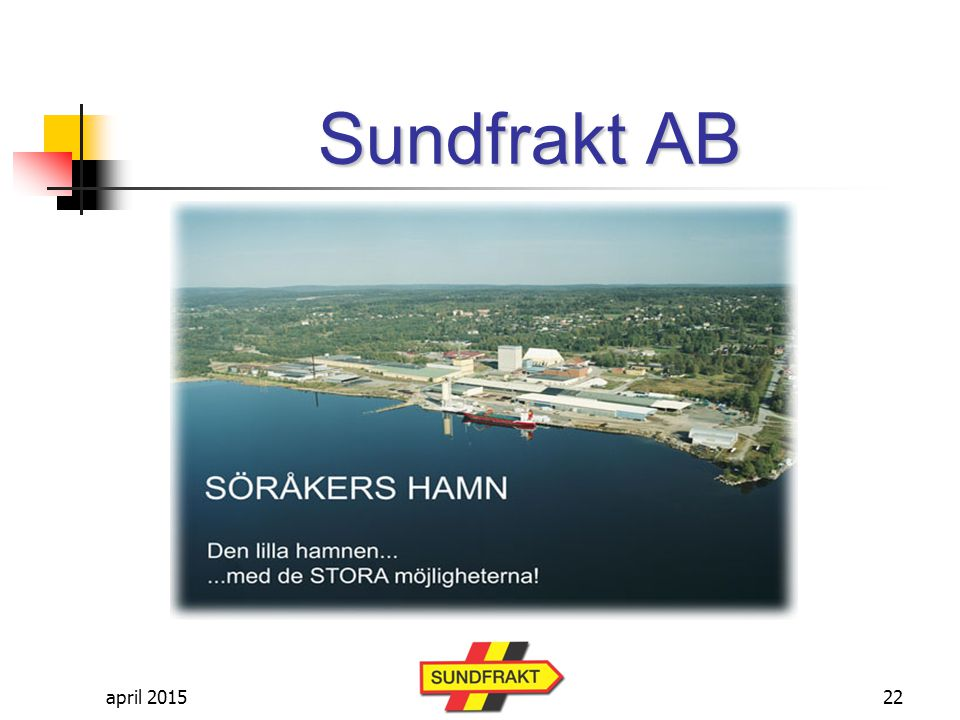 Sundfrakt AB april 2017