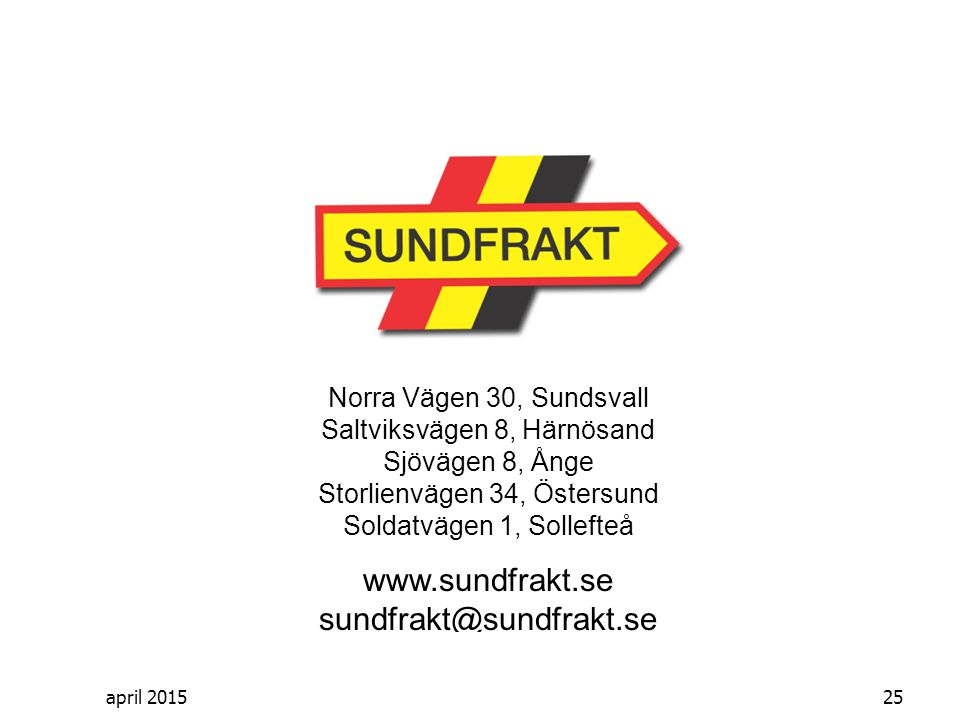 www.sundfrakt.se sundfrakt@sundfrakt.se
