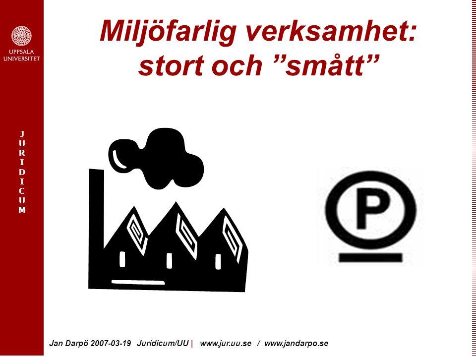 Miljöfarlig verksamhet: stort och smått