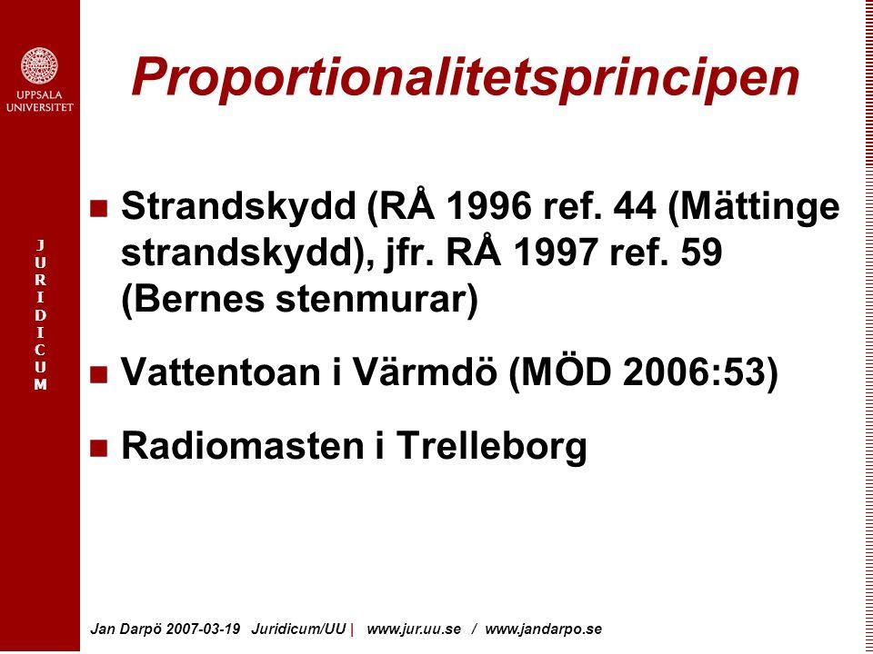 Proportionalitetsprincipen