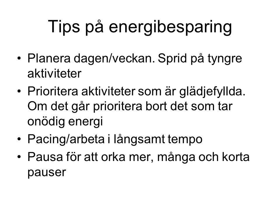 Tips på energibesparing