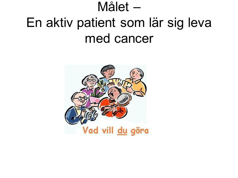 Målet – En aktiv patient som lär sig leva med cancer