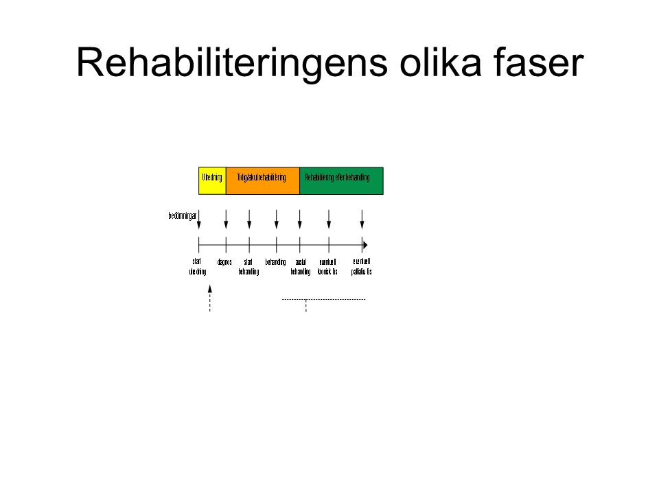 Rehabiliteringens olika faser