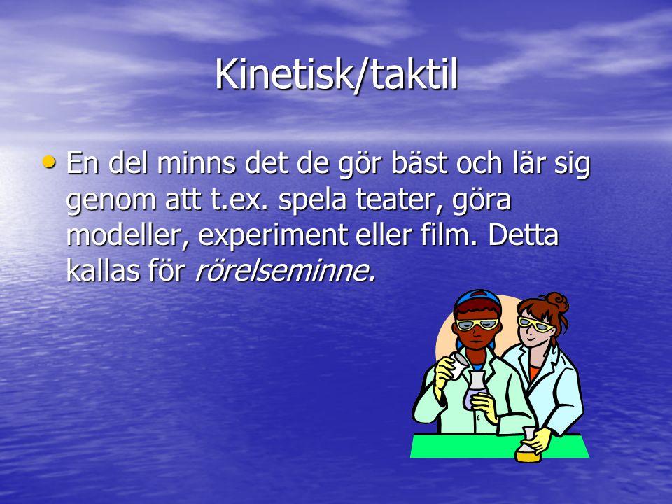 Kinetisk/taktil