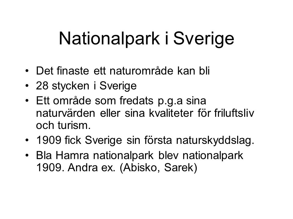 Nationalpark i Sverige