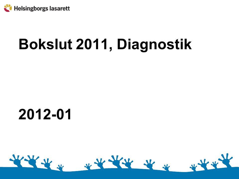 Bokslut 2011, Diagnostik 2012-01