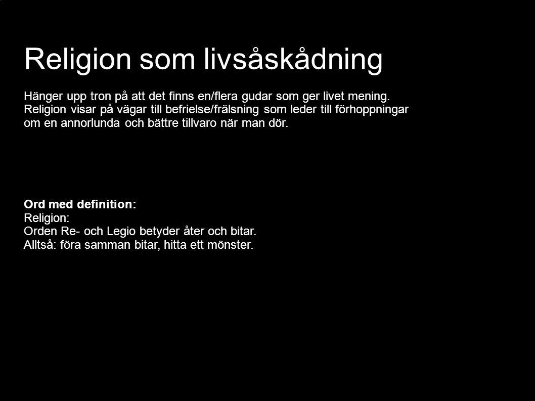 Religion som livsåskådning