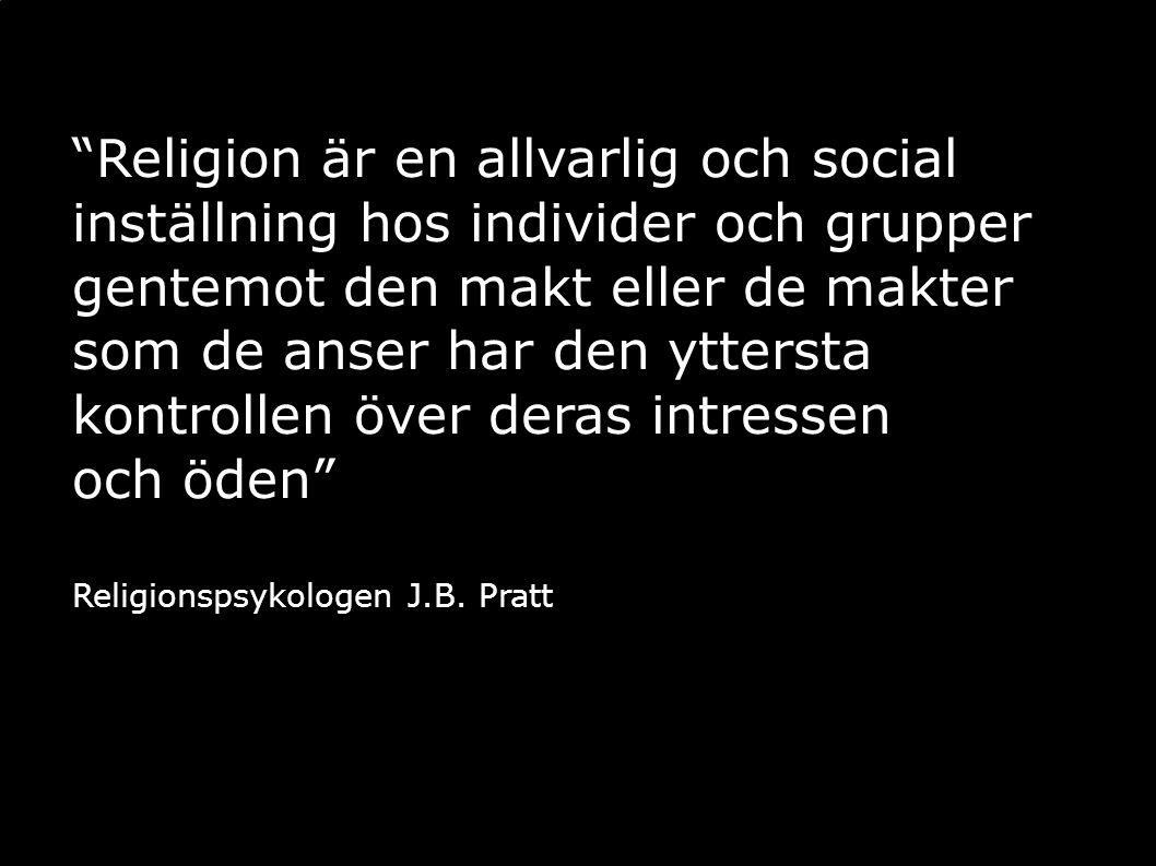 Religion är en allvarlig och social