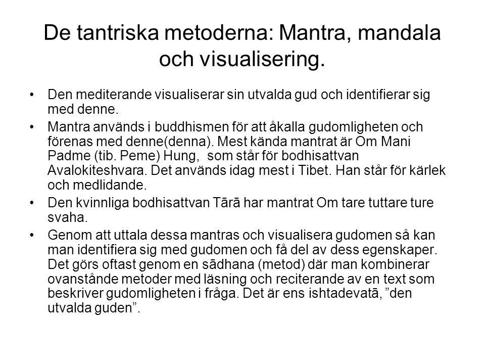 De tantriska metoderna: Mantra, mandala och visualisering.
