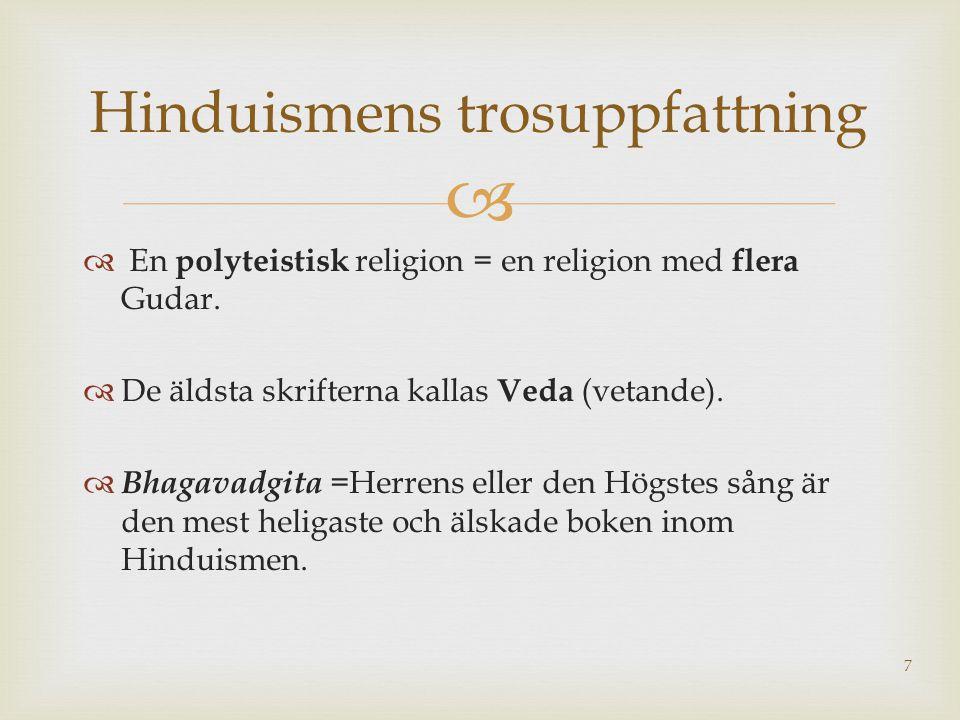 Hinduismens trosuppfattning