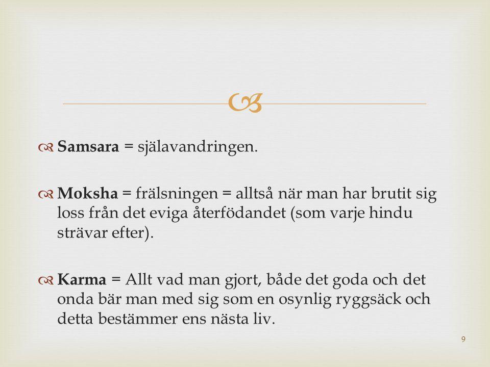 Samsara = själavandringen.