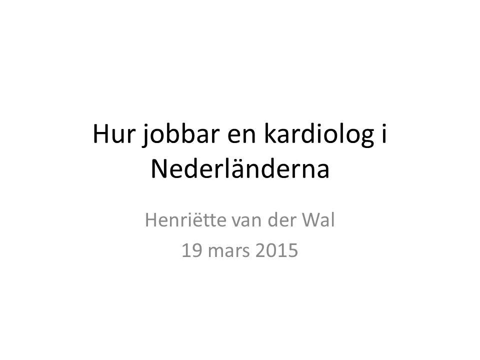 Hur jobbar en kardiolog i Nederländerna
