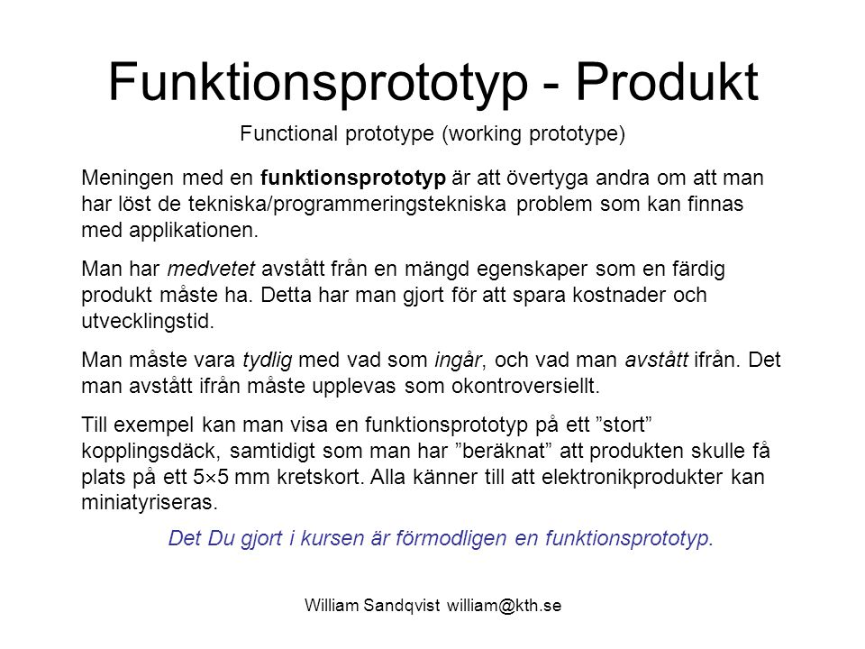 Funktionsprototyp - Produkt