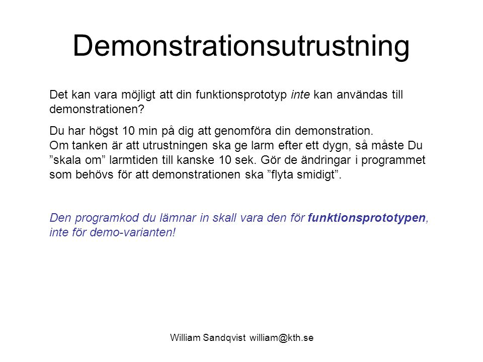 Demonstrationsutrustning
