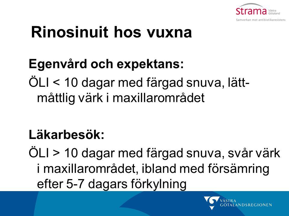Rinosinuit hos vuxna Egenvård och expektans: