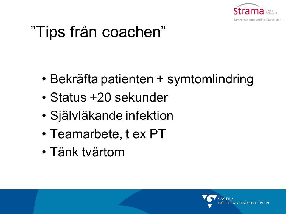 Tips från coachen Bekräfta patienten + symtomlindring
