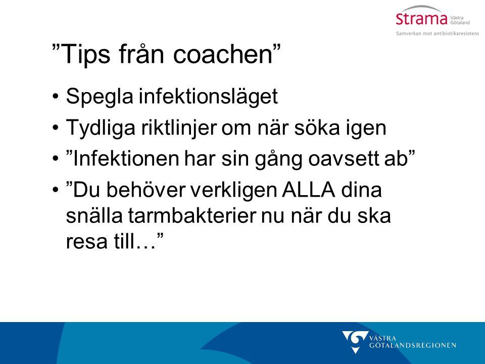 Tips från coachen Spegla infektionsläget