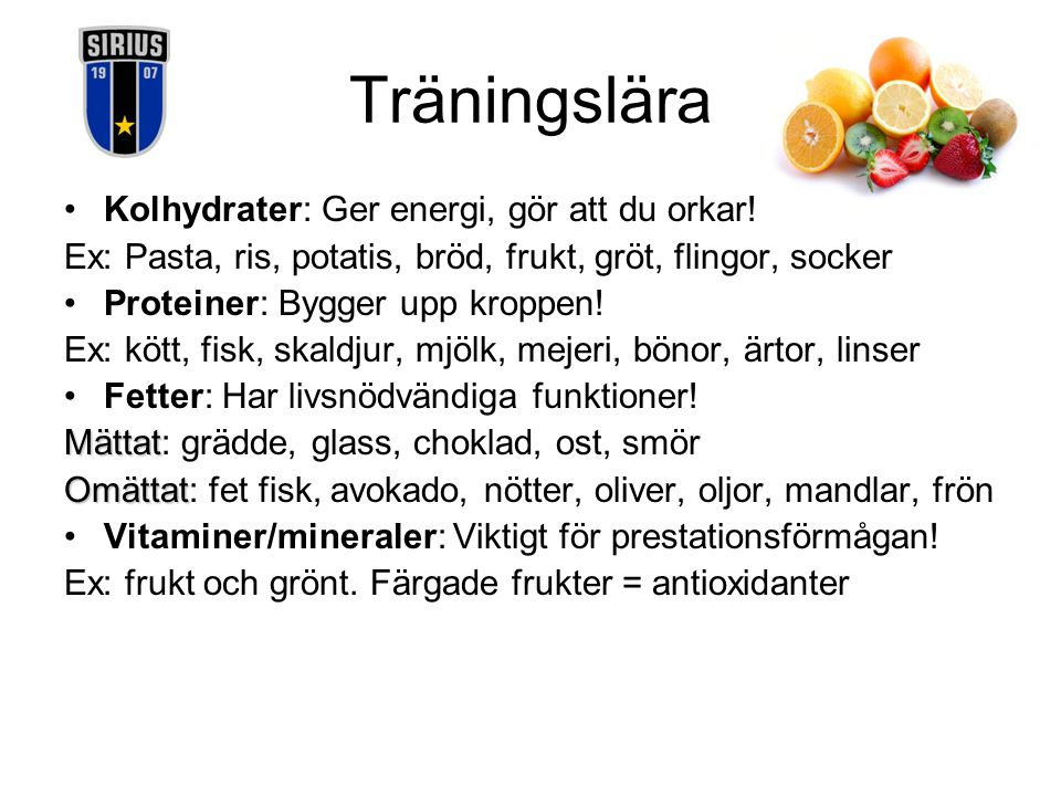 Träningslära Kolhydrater: Ger energi, gör att du orkar!