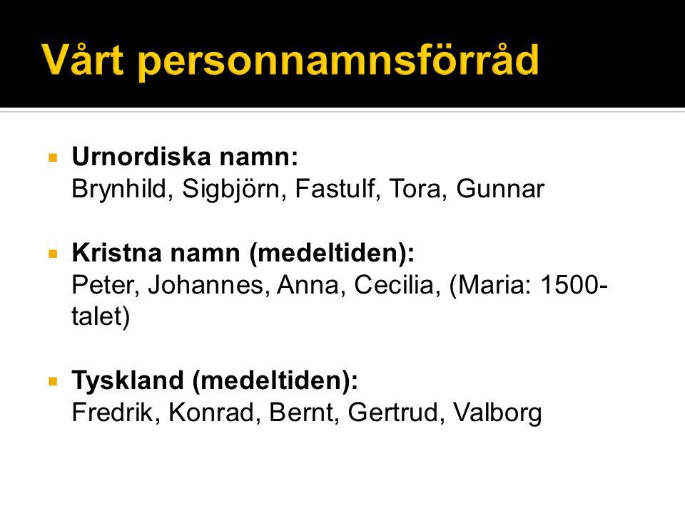 Vårt personnamnsförråd