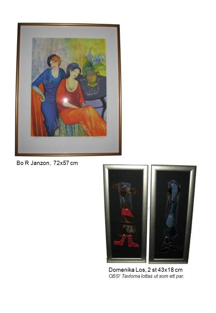 Bo R Janzon, 72x57 cm Domenika Los, 2 st 43x18 cm