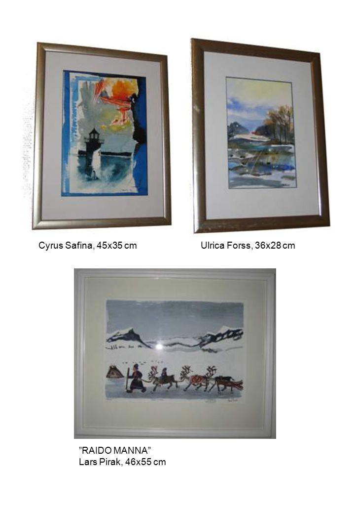 Cyrus Safina, 45x35 cm Ulrica Forss, 36x28 cm RAIDO MANNA Lars Pirak, 46x55 cm