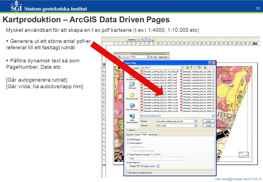 Kartproduktion – ArcGIS Data Driven Pages