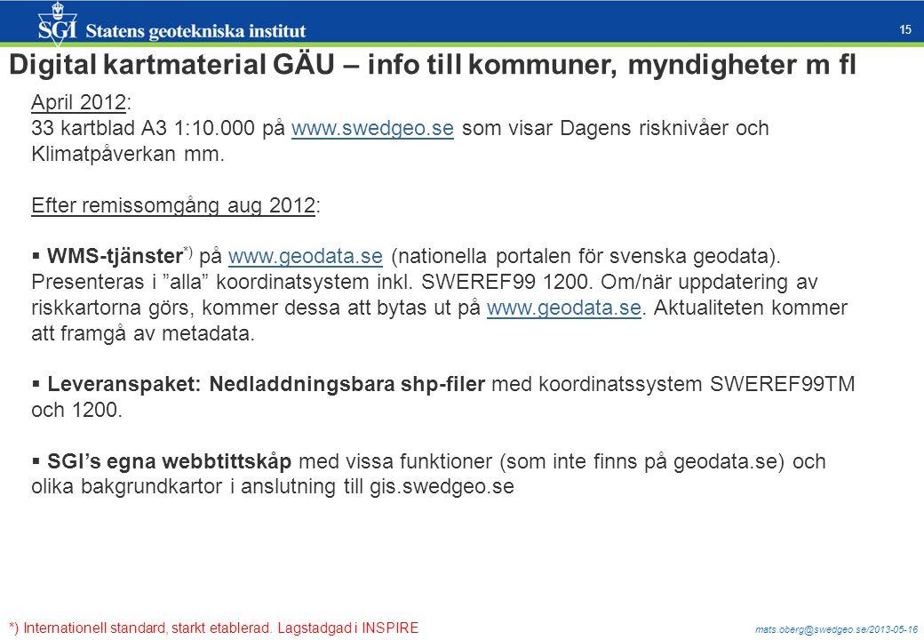 Digital kartmaterial GÄU – info till kommuner, myndigheter m fl