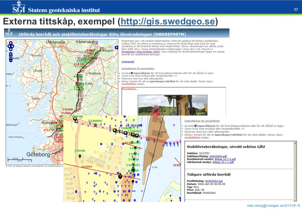 Externa tittskåp, exempel (http://gis.swedgeo.se)