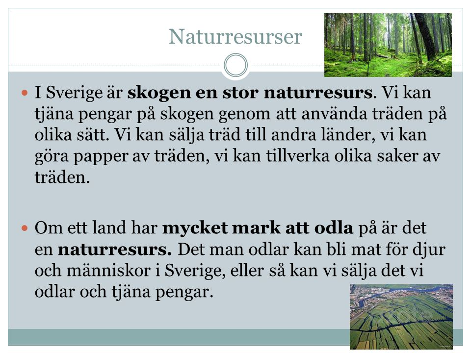 Naturresurser