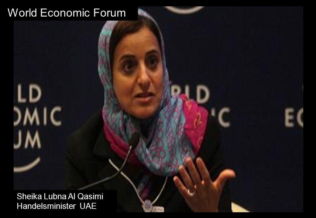 World Economic Forum Sheika Lubna Al Qasimi Handelsminister UAE