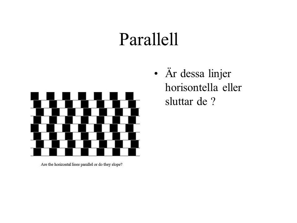 Parallell Är dessa linjer horisontella eller sluttar de