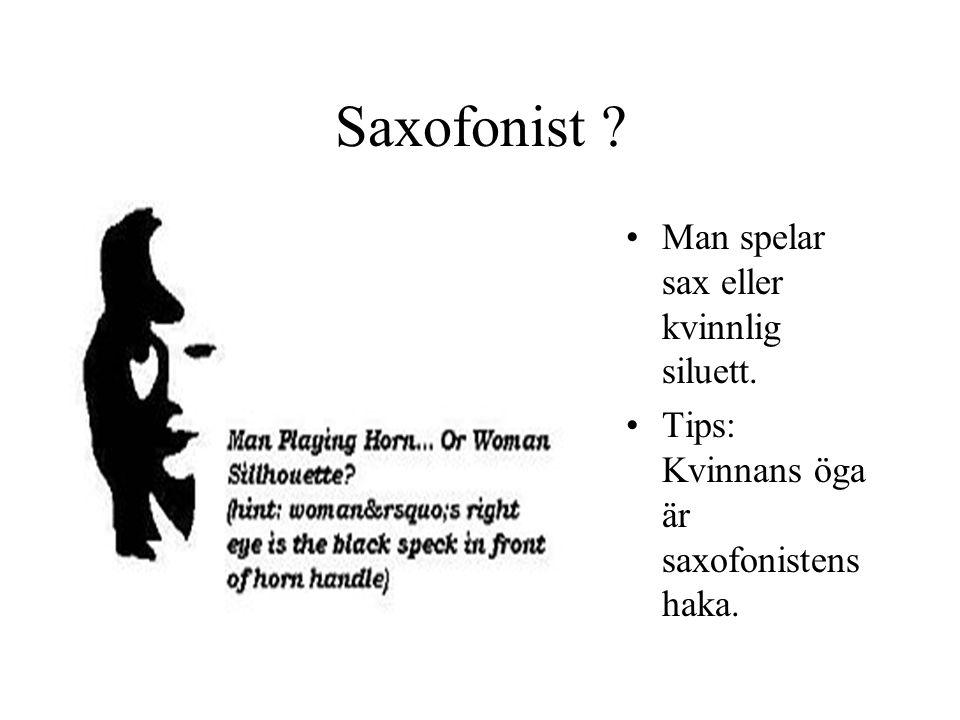 Saxofonist Man spelar sax eller kvinnlig siluett.