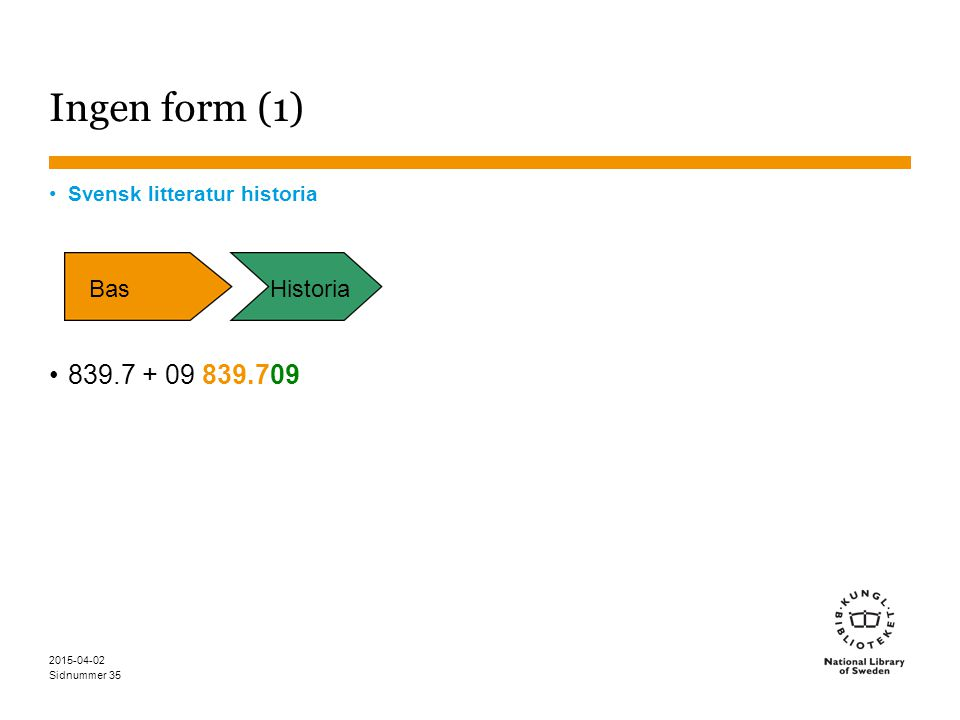 Ingen form (1) 839.7 + 09 839.709 Bas Historia