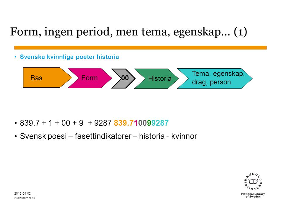 Form, ingen period, men tema, egenskap… (1)