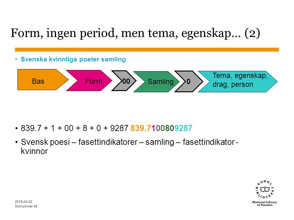 Form, ingen period, men tema, egenskap… (2)