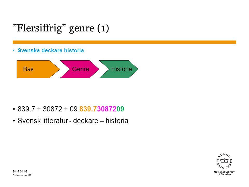 Flersiffrig genre (1)