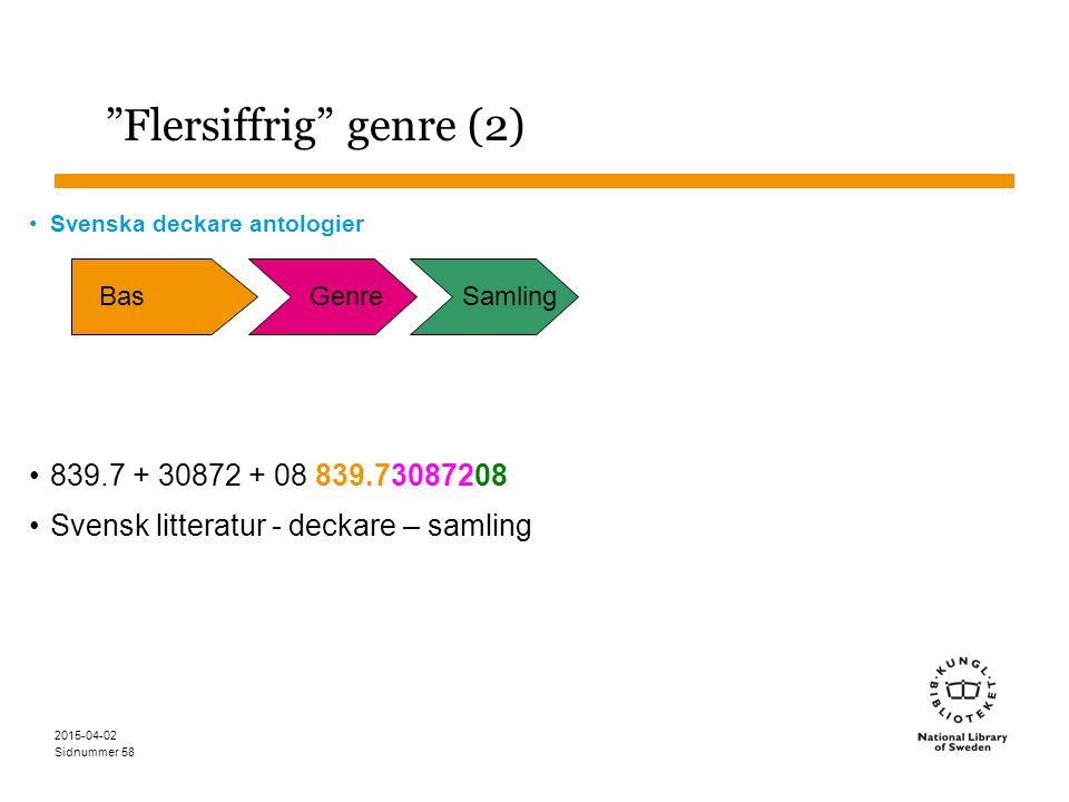 Flersiffrig genre (2)