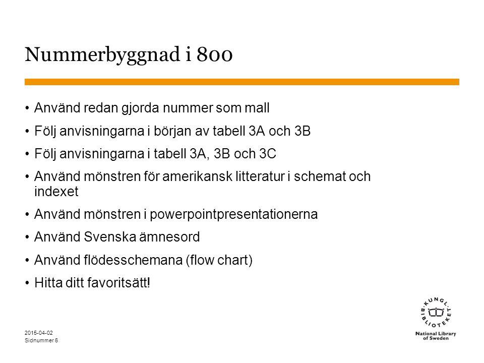 Nummerbyggnad i 800 Använd redan gjorda nummer som mall