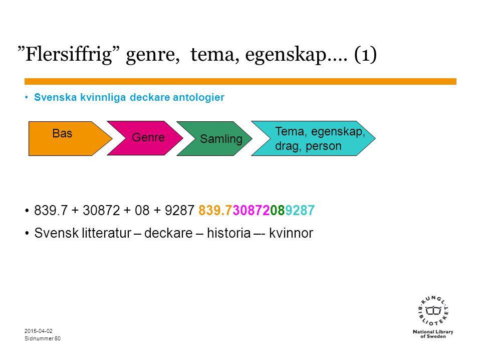 Flersiffrig genre, tema, egenskap…. (1)