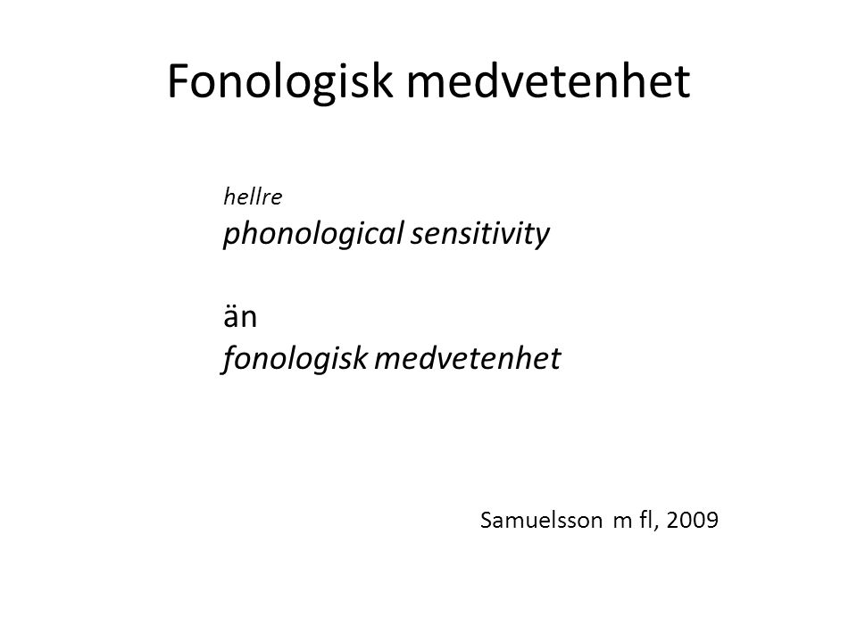 Fonologisk medvetenhet