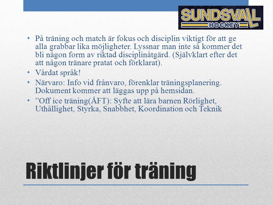 Riktlinjer för träning
