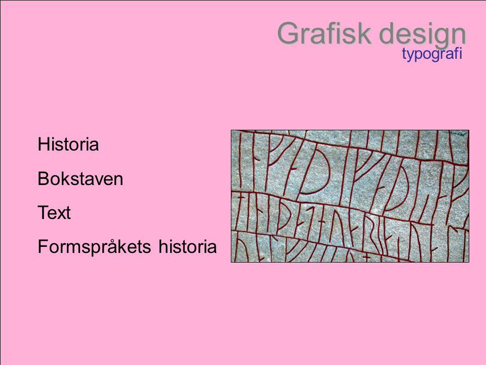 Formspråkets historia