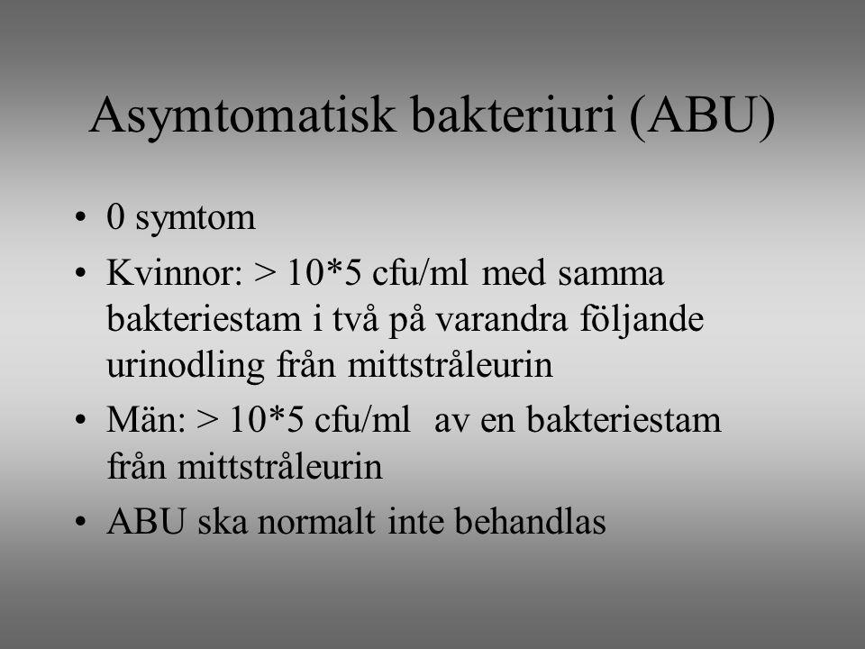 Asymtomatisk bakteriuri (ABU)