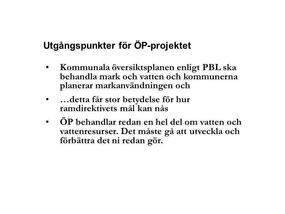 Utgångspunkter för ÖP-projektet