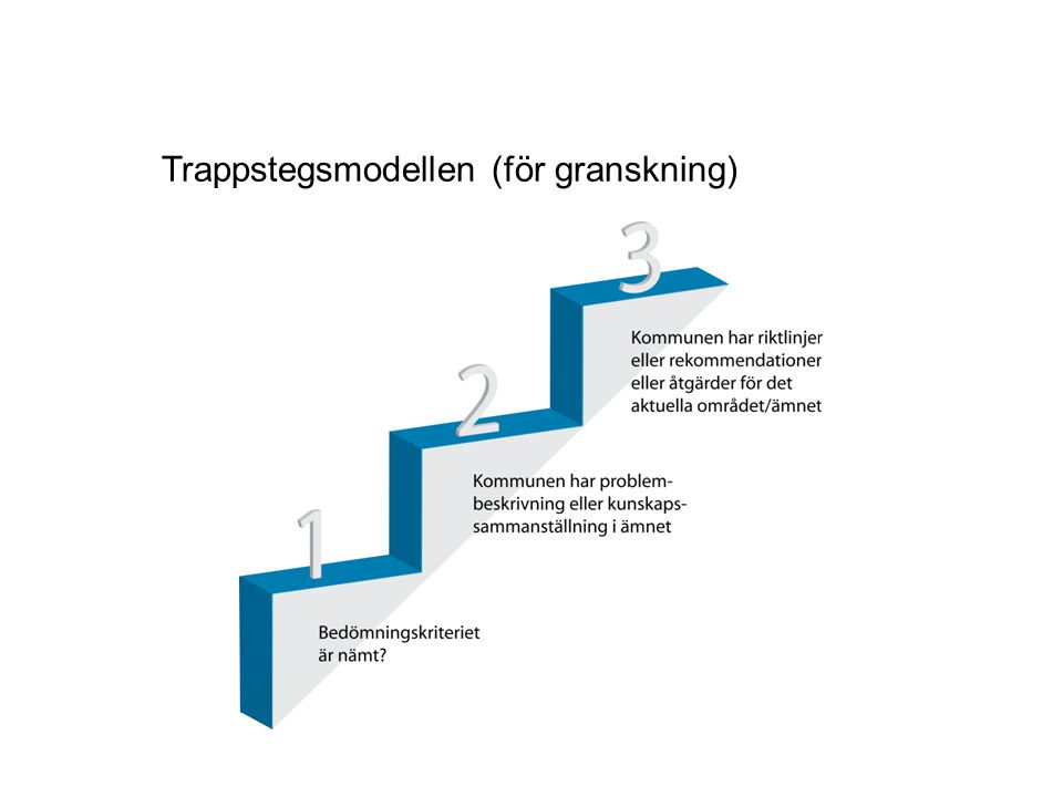 Trappstegsmodellen (för granskning)