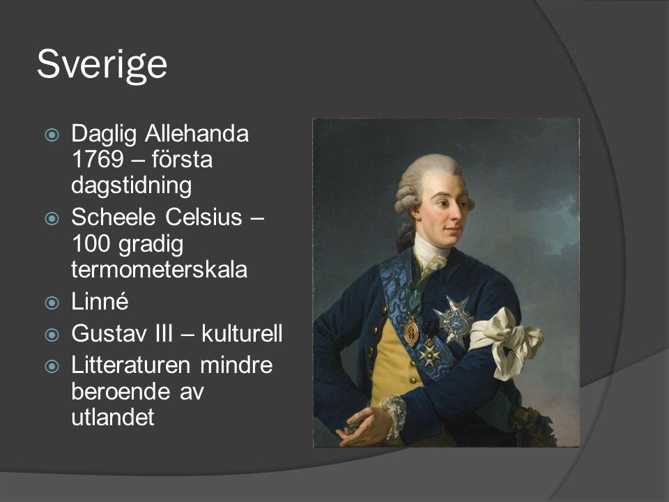 Sverige Daglig Allehanda 1769 – första dagstidning